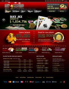 Casino on-line. Diseño y maquetación web.