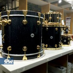 Black Ice FinishPly with Gold Hardware. #dwdrums #thedrummerschoice
