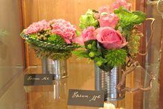 composition florale boite conserve - Google Search