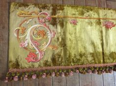 Antique French 1800s Chateau window curtain by MyFrenchAntiqueShop