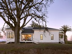 """I'm not fond of that roofline, but I love the """"dog trot"""" space between the living area."""