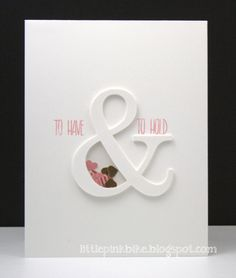 Happy Spring! I hope wherever you are that the weather is cooperating! Ampersands are really trendy right now! I thought I'd share a fun card style with you today using an ampersand that is actua...
