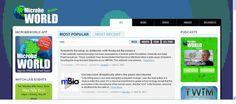 Microbe World es un portal con recursos y noticias sobre Microbiología.