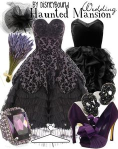 Haunted Mansion Wedding attire.....totally in love with this idea!!!!