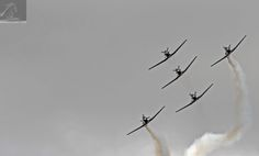 RNZAF Air Tattoo 2017 03 - Seen in this image is The Black Falcons: the aerobatic team of the Royal New Zealand Air Force (RNZAF) - taken at the 80th Anniversary Air Tattoo held at the Ohakea Air Force Base, NZ…