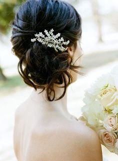 wedding hair with barrett? GET FOR WHEN VEIL COMES OFF