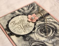 Stampin' Up! Timeless Elegance and One Big Meaning Thankyou card for SB108, by Claire Daly, Australia at www.clairedaly.typepad.com