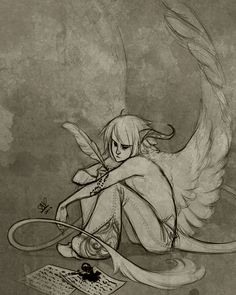 Time Will Forget by `sambees on deviantART // This makes me think of myself so much, for some reason.