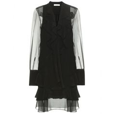 Chloé - Silk-chiffon mini dress - mytheresa.com