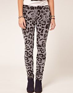 Denimocracy Leopard Skinny Jeggings