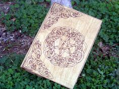 Celtic Knot Box hand burned by SleepingGryphon on Etsy, $28.99
