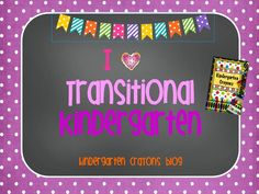 There are lots of ideas for helping Transitional Kindergarten students on my blog. Check it out!