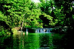 Little Niagara swimming hole in Chickasaw National Recreation Area, Oklahoma, is fed by the cool spring waters of Travertine Creek. I miss home :)