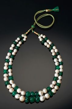 Collier Émeraudes, Perles Fines © V&A Museum The Al Thani Collection
