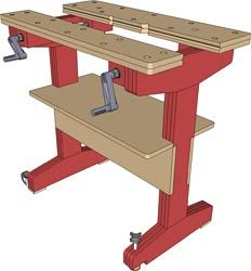 A woodworking shop should have a layout that could promote smooth and efficient work. Workbench Vice, Small Workbench, Workbench Plans, Woodworking Bench Vise, Woodworking Projects, Garage Construction, Workbench Designs, Wood Shop Projects, Homemade Tools