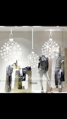 Christmas decal window idea