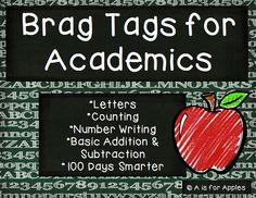 Brag Tags for Academics {Behavior Incentive} Kindergarten Classroom Management, Classroom Behavior, Kindergarten Teachers, Kindergarten Activities, Classroom Organization, Classroom Ideas, Preschool, Counting By 10, Behavior Incentives