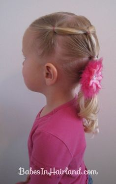 Toddler Version of Row of Fancy Ponytails (10)