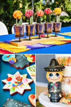 "Colorful ""Fiesta de Arte"" Twins Birthday Party // Hostess with the Mostess® Twin Birthday Parties, Summer Birthday, Fiesta Party Decorations, Fiestas Party, Art Party, Craft Activities, Holidays And Events, First Birthdays, Party Time"