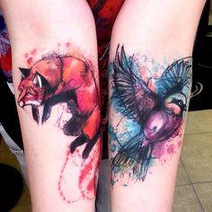 2 wonderful tattoos by @milky_tattoodles on instagram