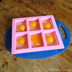 How to freeze chicken eggs. ///💚:-) Using a soap mold for freezing eggs. Hey, I love this idea. Fresh Chicken, Frozen Chicken, Chicken Eggs, Egg Hacks, Food Hacks, Cooking Hacks, Food Tips, Cooking Ideas, Freezer Eggs
