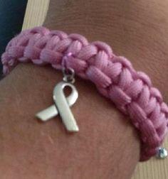 Ribbon Charm Paracord Bracelet