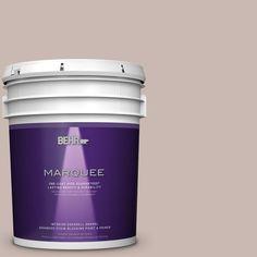 BEHR MARQUEE 5 gal. #N170-3 Gray Ashlar One-Coat Hide Eggshell Enamel Interior Paint