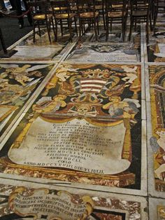 St. John's Co-Cathedral, Valletta, Malta -  Tomb of a Knight buried under the Cathedral floor.