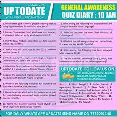 General Awareness Quiz : 10 January Als Research, Administrative Work, Digital Media, Nasa, Language, January, Speech And Language, Language Arts