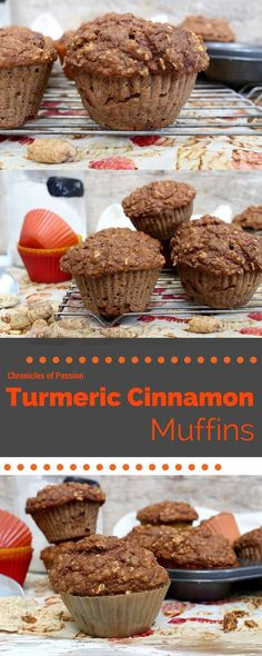 Click to get the recipe for these healthy, whole grain muffins that use fresh turmeric for added antioxidants and anti-inflammatory benefits.