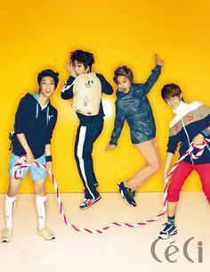Kwang Min, Min Woo, Jeong Min, Hyun Seong - Ceci Magazine
