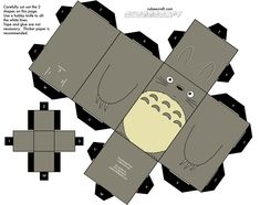 """From the animated film """"My Neighbor Totoro"""" by Hayao Miyazaki and Studio Ghibli. Paper Doll Template, Instruções Origami, Anime Crafts, Sunday School Teacher, My Neighbor Totoro, Hayao Miyazaki, Kirigami, Paper Toys, Animation Film"""