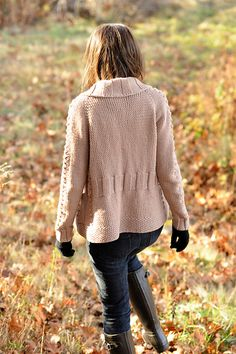 Solstice Cardigan by Cecily Glowik MacDonald (back view)