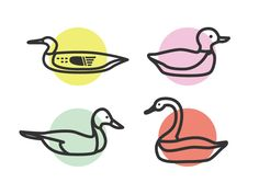 Last shot of Currently working on some cool patterns for a big project, and I'm loving these little ducks I drew up for one of them. I threw them on some fun color dots because who doesn't lo. Flying Bird Drawing, Bird Drawings, Kids Branding, Logo Branding, Corporate Branding, Brand Identity Design, Branding Design, Duck In Water, Duck Art