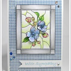 """Della on Instagram: """"Stained Glass Apple Blossom card by @renlymat #ibrakeforstamps #ibfs #cardmaking"""" Cardmaking, Stained Glass, Stamps, Apple, Frame, Cards, Inspiration, Instagram, Seals"""