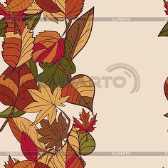 Осень рисунок. Структура осенние листья. Красный, | Векторный клипарт | ID…