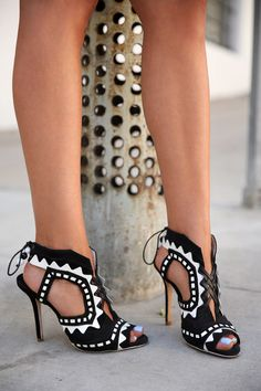 Black & white Sophia Webster heels