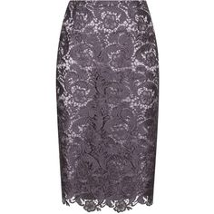 Jacques Vert Lace Skirt ($69) ❤ liked on Polyvore featuring skirts, clearance, purple, lacy skirt, scallop hem skirt, lace skirt, lace pencil skirt and knee high skirts