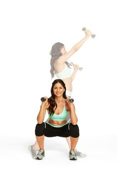 The Twist-Up: targets shoulders, triceps, core, butt and legs.