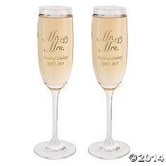 """Personalized """"Mr. & Mrs."""" Flutes"""