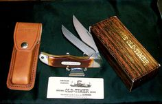 "Schrade 25OT Knife & Sheath 1980's Old Timer 5-1/4"" Closed W/Original Packaging @ ditwtexas.webstoreplace.com"