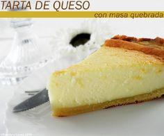 tarta de queso con masa quebrada