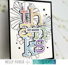 Blog News - Concord & 9th Concord And 9th, Rainbow Card, Altenew, Flower Cards, Thank You Cards, Florals, Card Ideas, Mixed Media, Scrapbooking