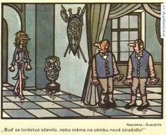 Jiří Winter Neprakta, Miloslav Švandrlík - Buď se lordstvo oženilo, nebo máme na zámku nové strašidlo! Funny Cartoons, Humor, Caricature, Classic, Winter, Derby, Winter Time, Humour, Moon Moon