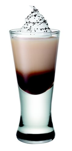 Smirnoff Whipped Java-Whipped Cream flavored Vodka, Bailey's Coffee flavored liqueur, Kahlua and Whipped Cream.