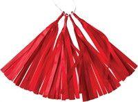 ***Tissue Paper Tassels - Red