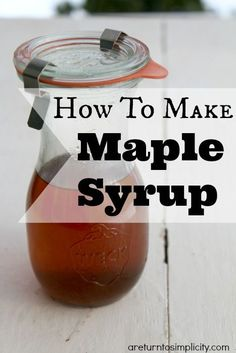 Did you know that it is super easy to make your own maple syrup at home? Here is a picture tutorial on How To Make Maple Syrup   areturntosimplicity.com
