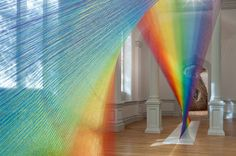 Gabriel Dawechas done it again! 'Artist weaves stunning rainbows from 60 miles of thread