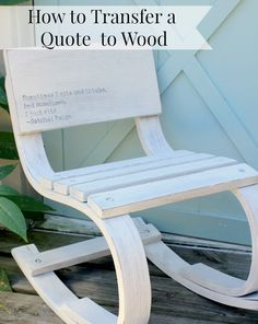 How To Transfer Quotes To Wood