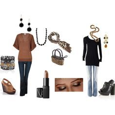 Brown and Black, created by ahguthrie.polyvore.com